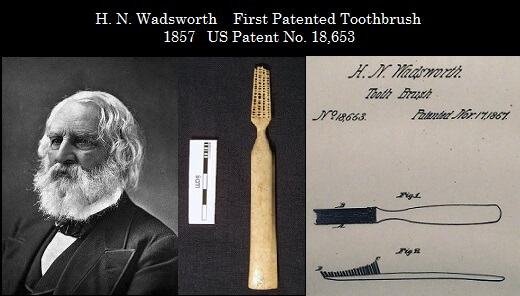 H N Wadsworth toothbrush and patent