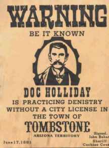 doc holliday outlaw dentist paul a griffin dds pa